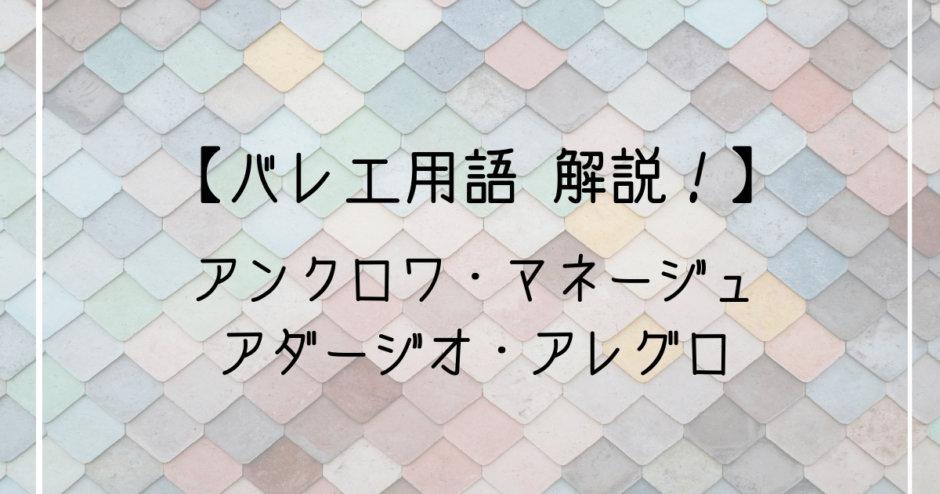 バレエ用語解説