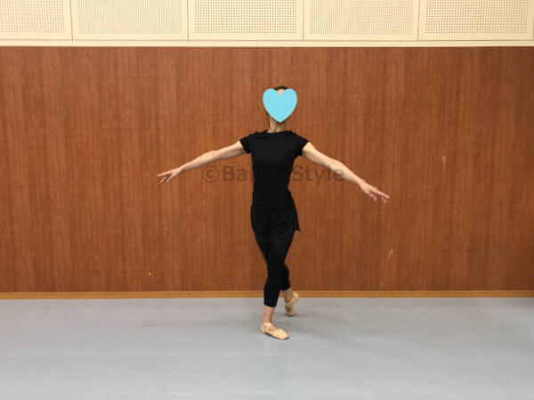 プレパレーションするダンサー